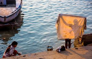 'Morning washing on the Ganges'