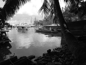 Seaside view of Singapore