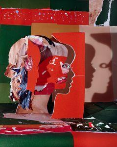 Portrait in Orange and Green, 2012 © Daniel Gordon