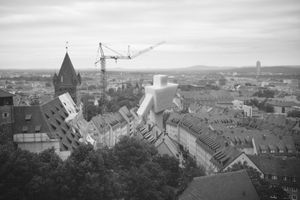 Untitled #1 (Overlooking Nürnberg, Bavaria from Sinwell Tower) © Hans Gindlesberger