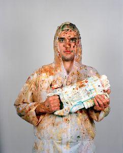 Food Fight Painting Portrait #1