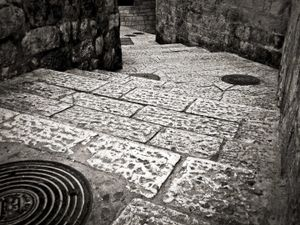 Steps in the old city of Jerusalem, Israel