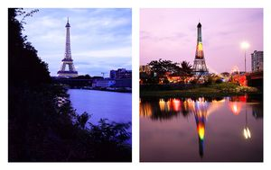"""From the series """"The eiffel tower(s)""""   Paris, France / Ho Chi Minh City, Vietnam © Han Sungpil"""