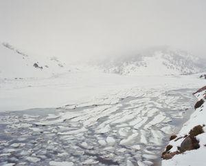 Ice flow, Guthega Pondage.