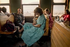 In a train in USSR Ukraine.