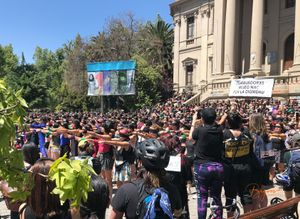 Manifestation in Santiago de Chile