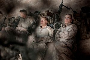 U.S. Marines of the 3rd Battalion, 6th Marines, Combat Operations Post Coutu, Marja District, Helmand Province, Afghanistan. © Adam Ferguson