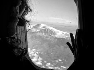 In air, between Catania and Rome. Mount Etna.