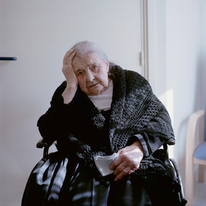 Madeleine Rott (b. 1915) in her garb for everyday life, Alsatia, France, 2011. From the series: Village Queens. The last women in their traditional peasant garbs