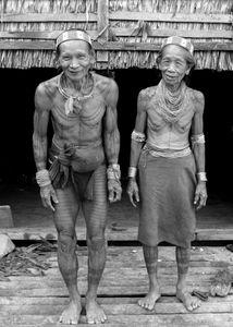 Couple Mentawai. Les ainés.