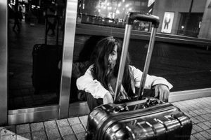 The Man and the Suitcase - Tokyo, 2016