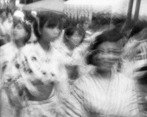 girls walking in the market