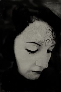 """Turning Around of the Instincts. 10""""x14"""" Tintype. From the series """"Soma"""" © Michelle Rogers Pritzl"""