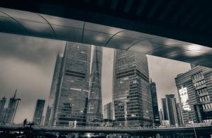 2 Shanghai view on a rainy evening