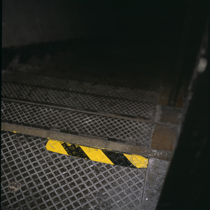 The steps where Jean Charles de Menezes was chased by armed police. Stockwell Tube station in London the day after the fatal shooting by police of Jean Charles de Menezes suspected of being a terrorist bomber later found to be a case of mistaken identity.