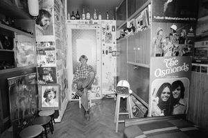 Zofia Rydet, Sociological Record, Silesia, Gliwice, Romek Sowinski, 1978. People in Interiors cycle © Zofia Augustynska-Martyniak