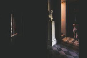 In dark surroundings