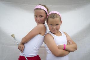 Makayla and Alexis Endres (8). Cheerleaders.