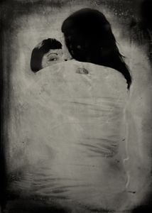 """The Perception of Pressure. 10""""x14"""" Tintype. From the series """"Soma"""" © Michelle Rogers PritzlRogers Pritzl"""