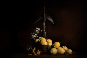 Still Life with Statue and Lemons