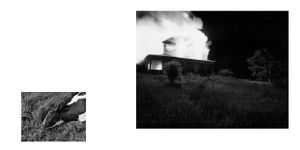 "from ""Into the Heart of Darkness and Light: A Dream Sequence"" (unpublished artist book, pages 12-13),"