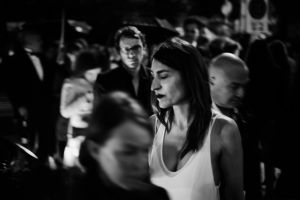 a street crossing near the Palais des Festivals after the night screening, 2013  © Alison McCauley