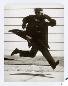 Running Man.  L'Uomo Vogue, San Francisco, 1992. Archival pigment print from a polaroid 243 x 183 cm (95 5/8 x 72 in. ) Edition of 3.