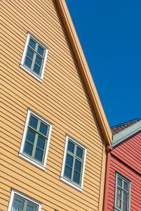 An element of the Bryggen satiated in Bergen, Norway.