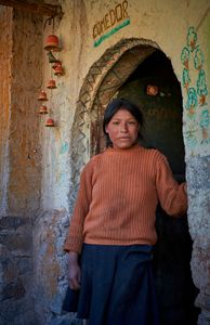Portrait of a young girl in the remote Andean community of Pampacorral