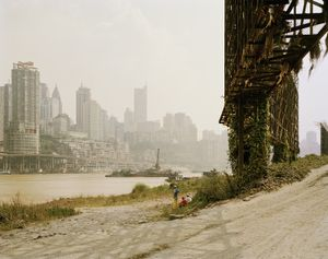 Nadav Kandar Yangtze: The Long River (China, 2010) Billboard at Chongqing  Courtesy of Noorderlicht Gallery, Holland.