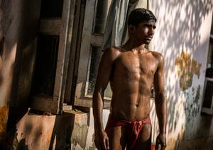 'Young Wrestler, Delhi'