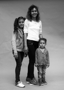 Didier and her children Olga and Jean Paul