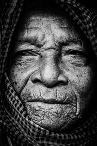 Old man with krama