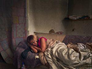 Diane Sleeping, Poletown, Eastside, Detroit 2013