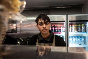 Ayers Rock, Warrin, 23 works at Kulada Academy Cafè.