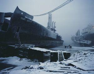Abandoned warship in the Kola Bay. Murmansk. Northwestern Region, January 2005 From the book, Motherland, by Simon Roberts © Simon Roberts