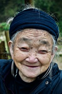 Elderly woman from the Black H'mong minority.