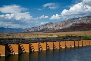 Original LA Aqueduct Intake Diversion Gates, Owens Valley, CA