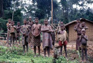 A Baka family in Cameroon
