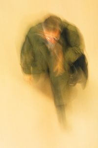 Man in Green Trench Coat, Grand Central Terminal, NYC, 2009