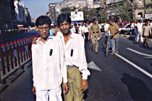 Anti Tax Protest, Bombay, India, 1990