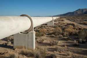 Second Los Angeles Aqueduct Pipeline in Sand Canyon, CA