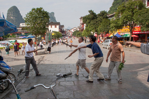 Violence with knives in Yangshuo