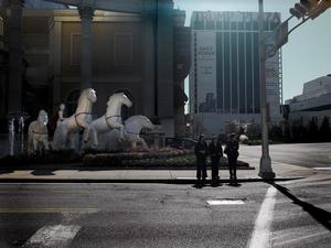 Trump's horses, Atlantic city, NJ.