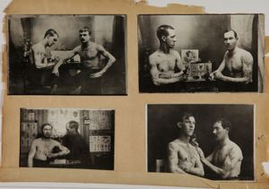 Images from the Lacassagne School of Criminology. Anthropometric prints made between 1920-1940 by the Lyon Prefecture of Police. © Gdalessandro/ENSP