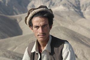 A Kuchi 'nomad' with a Pakol (Afghan hat)