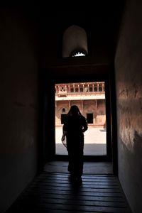 Woman in Doorway, Agra, India