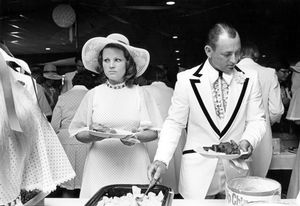 Wedding dinner, Bridesmaid  Father of the bride, 1974 © Wendy Watriss and Frederick C. Baldwin