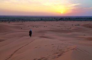 Sand Dune's Sunset, Saudi Arabia