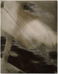 "Room Study No. 24, 2013, unique silver gelatin skiagram + chemigram, 14"" x 11"""